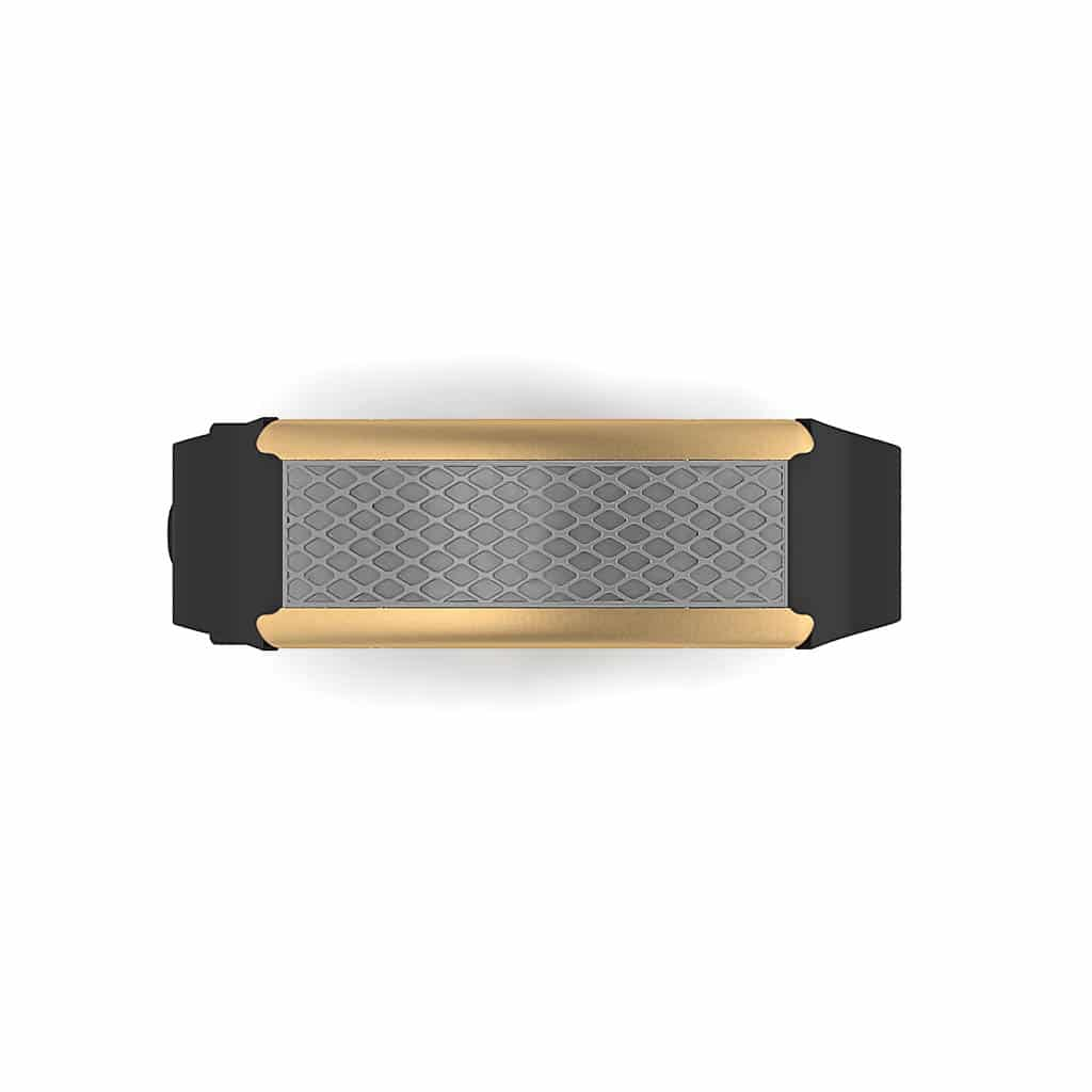 Monaco contactless payment wearable bracelet flint grey and black rubber face and overview