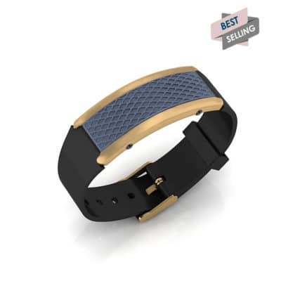 Monaco contactless payment wearable bracelet ocean blue and black rubber main view bestseller