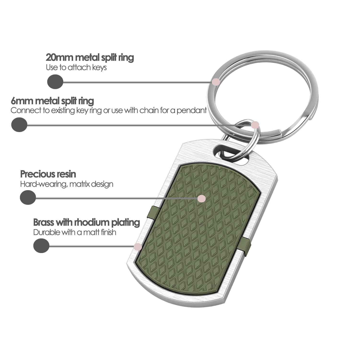 New York contactless payment wearable key fob pendant khaki green product details specification