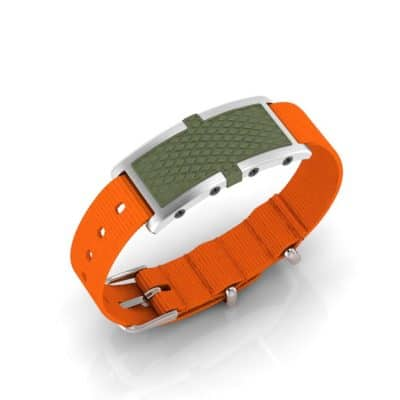 Oxford Contactless Payment Bracelet Khaki / Orange