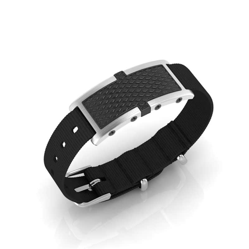 Oxford contactless payment wearable bracelet black and black nylon main view