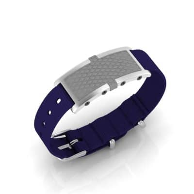 Oxford Contactless Payment Bracelet Flint / Blue