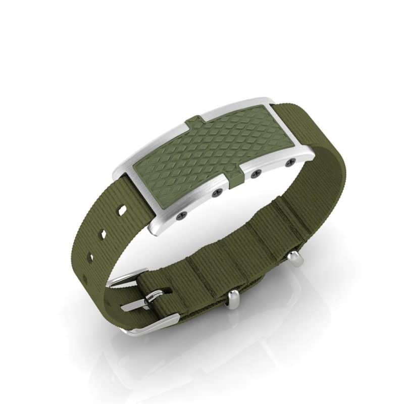 Oxford contactless payment wearable bracelet khaki green and khaki green nylon main view