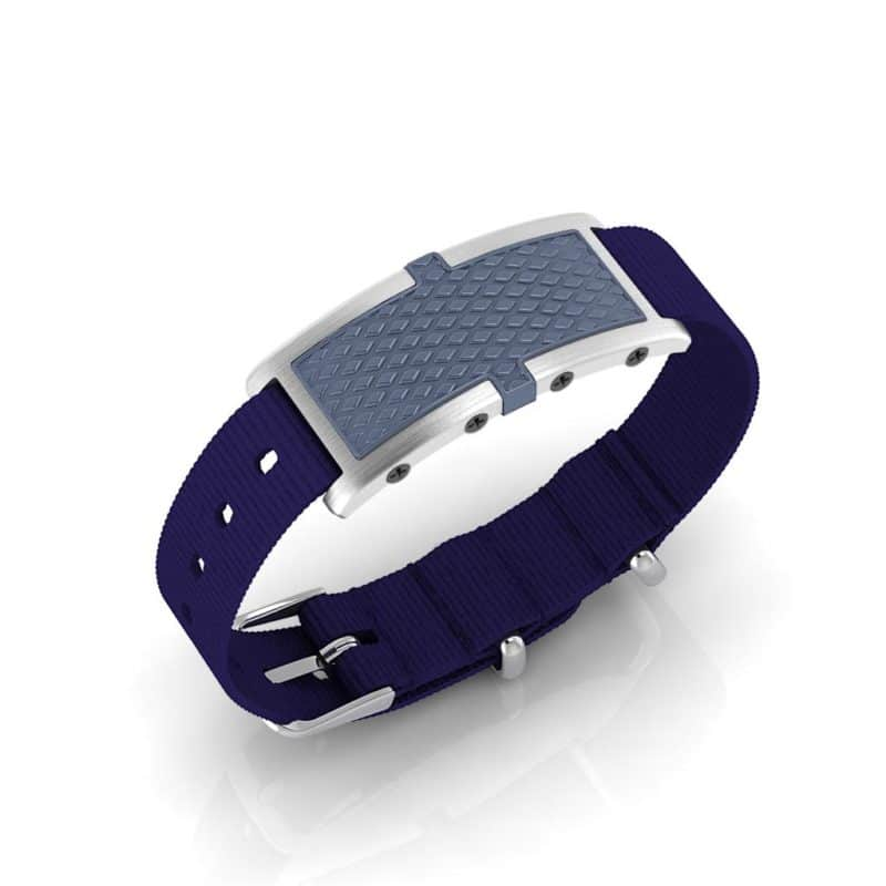 Oxford contactless payment wearable bracelet ocean blue and blue nylon main view