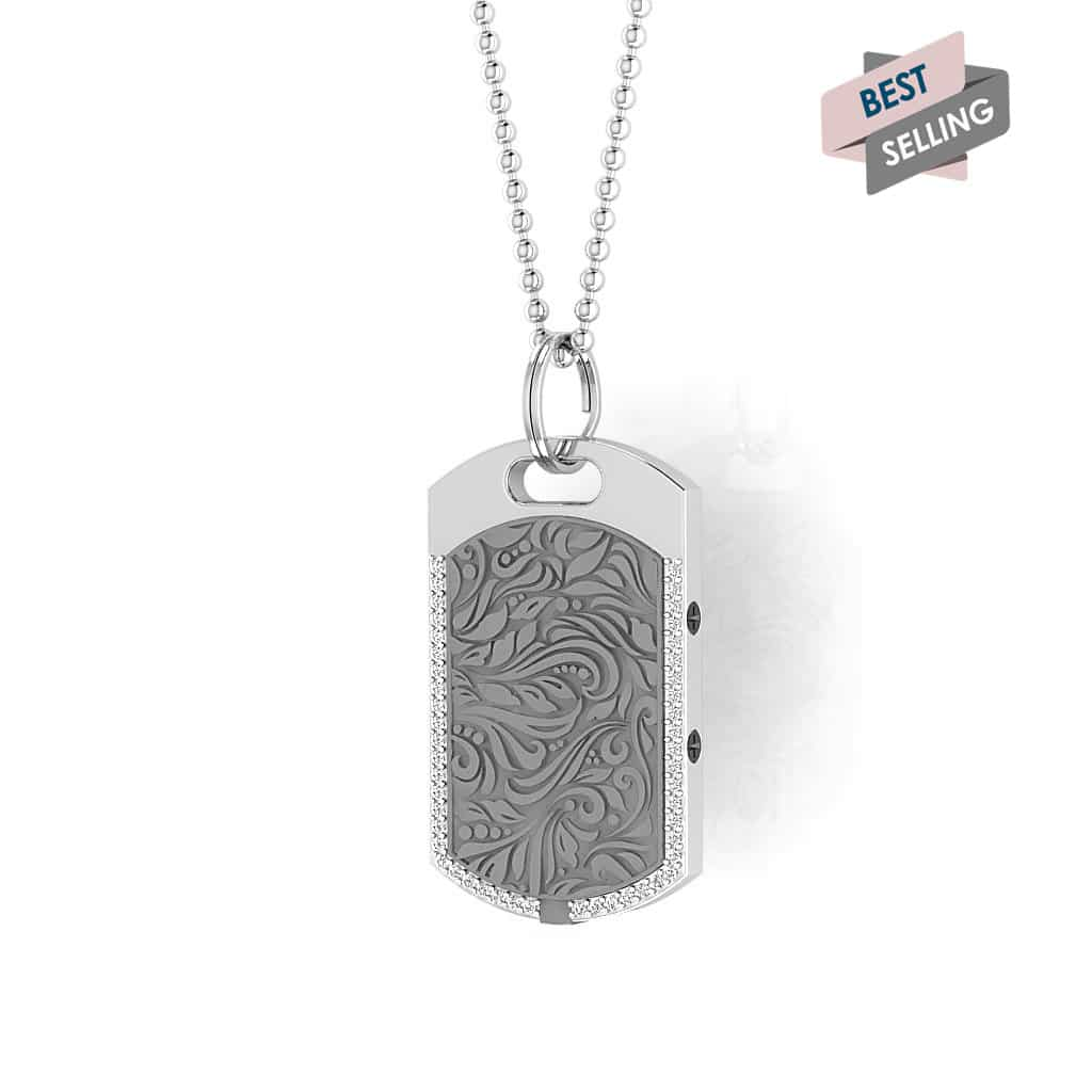 Vienna contactless payment wearable pendant Swarovski crystals flint grey main view bestseller