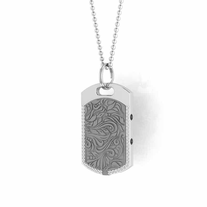 Vienna contactless payment wearable pendant Swarovski crystals flint grey main view