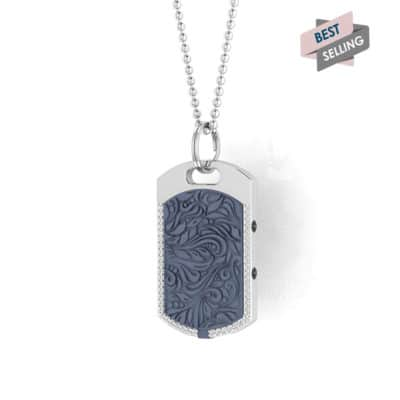 Vienna contactless payment wearable pendant Swarovski crystals ocean blue main view bestseller