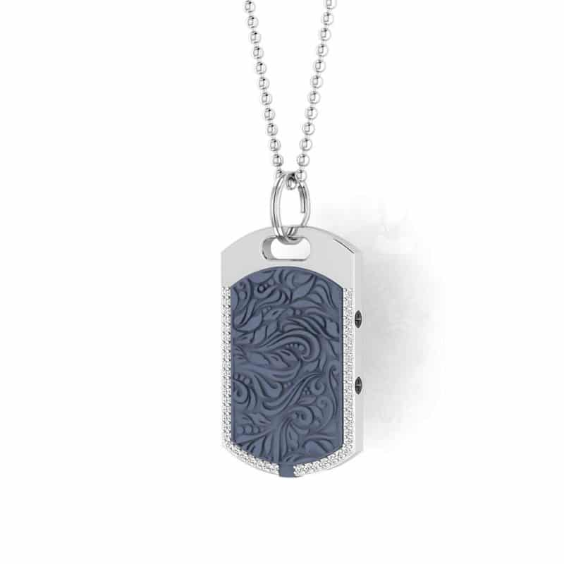 Vienna contactless payment wearable pendant Swarovski crystals ocean blue main view