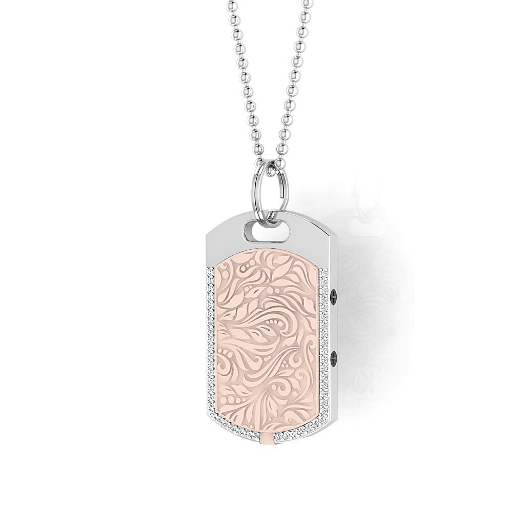 Vienna contactless payment wearable pendant Swarovski crystals shell pink main view